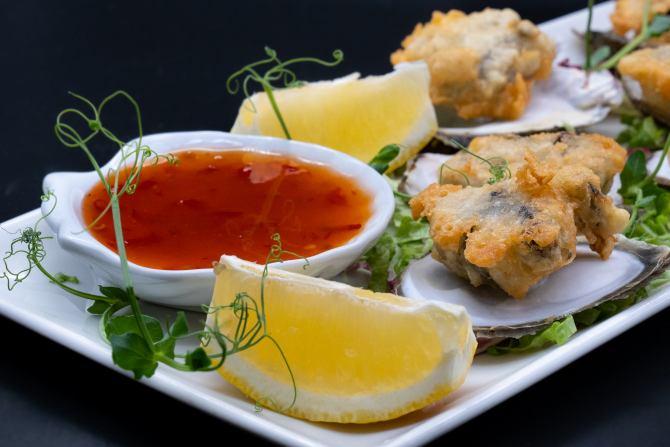 Fried oysters, Dalmatian seafood delicacy, Mediterranean specialties,  www.zadarvillas.com