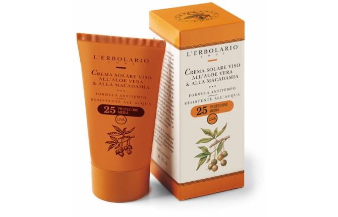 SPF 25+ krema za zaštitu lica a aloe verom i oraščićem makadamija