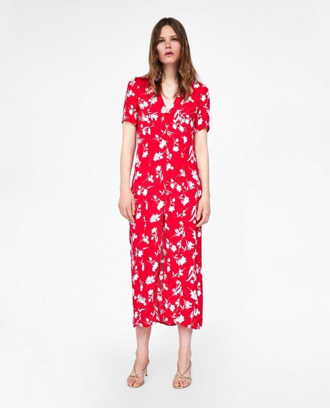 Duga cvjetna haljina, Zara - 299,90 kn