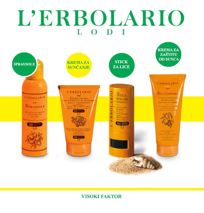 Sigurno sunčanje uz L'Erbolario