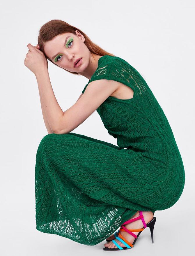 Heklana haljina s V izrezom, 229,90 kn, Zara