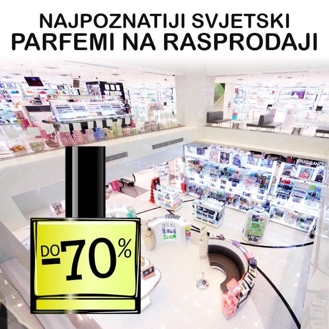 Najpoznatiji svjetski parfemi čekaju vas na rasprodaji