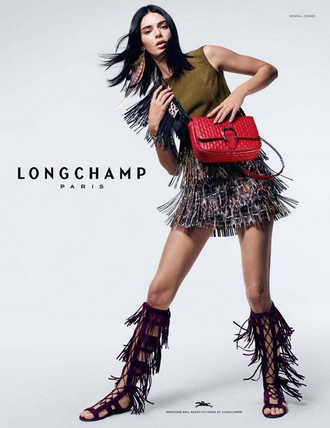 Kendall Jenner za Longchamp