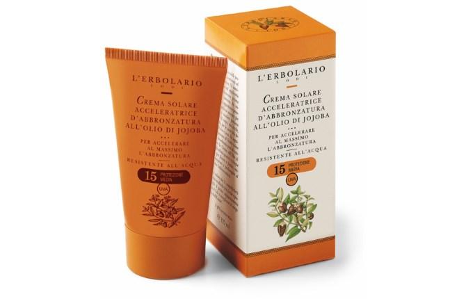 L'erbolario: SPF 15 krema za ubrzano tamnjenje kože sa uljem jojobe