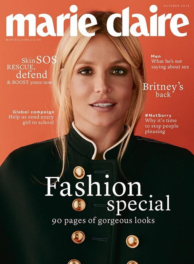 Britney Spears za Marie Claire UK