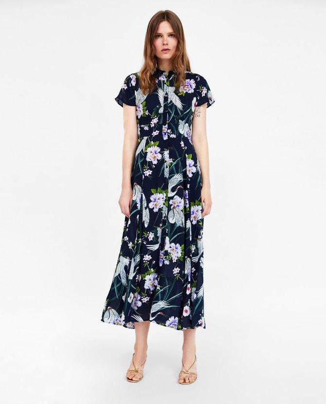 Duga haljina sa cvjetnim uzorkom, Zara - 299,90 kn