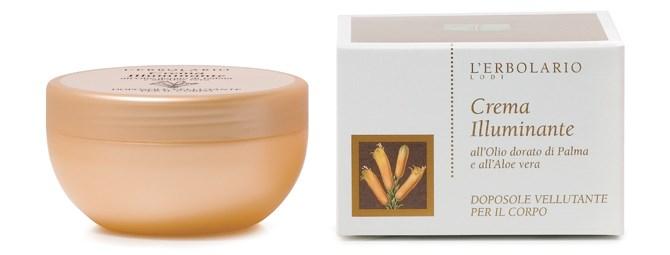 Svjetlucava krema za poslije sunčanja s uljem zlatne palme i aloe verom
