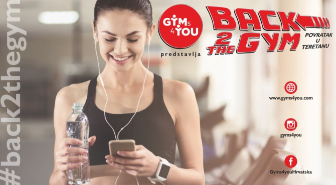 Gyms4you: Back 2 The Gym – Povratak u teretanu