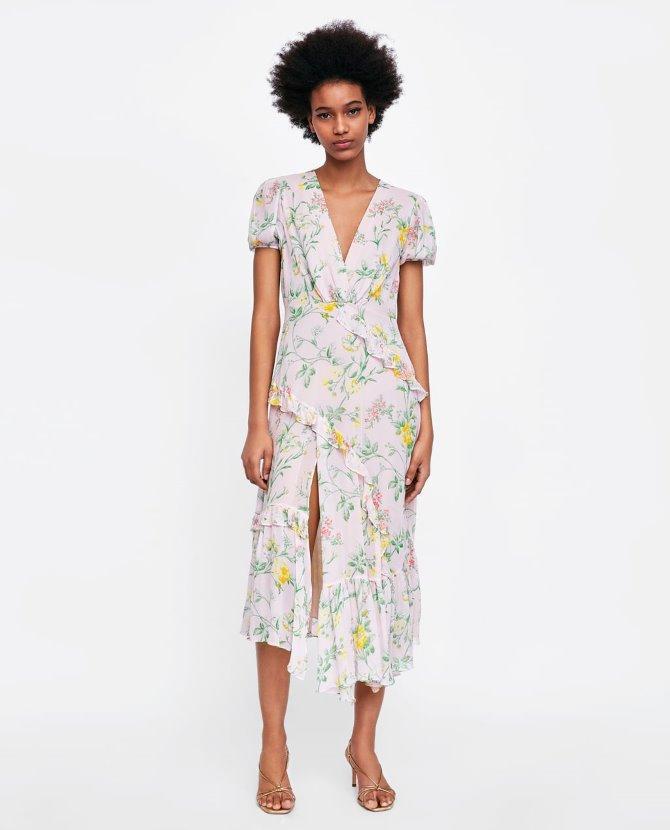 Haljina s volanima i cvjetnim uzorkom, Zara - 499,90 kn