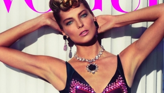 Daria Werbowy u Pradi u stilu Esther Williams za Vogue